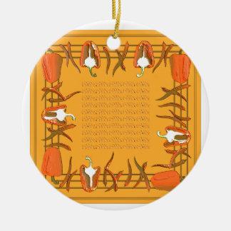 Hots und Süßigkeiten #18 Rundes Keramik Ornament