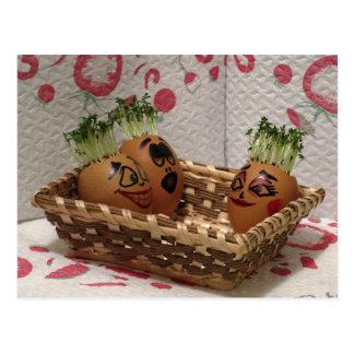Hottub für Eggmen Freund-lustige Ostern-Postkarte Postkarten