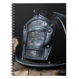 Houston-Feuerwehrmann-Notizbuch Spiral Notizbuch