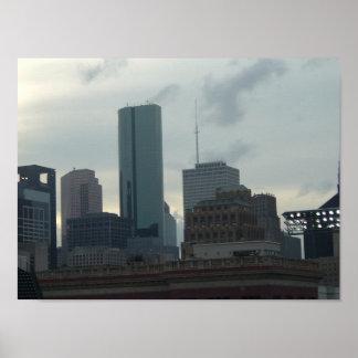 Houston-Skyline Poster