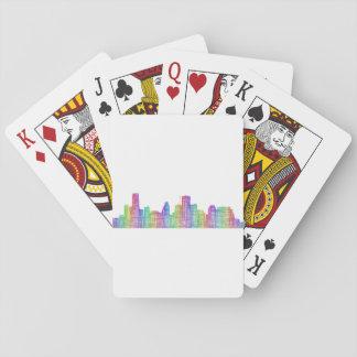 Houston-Stadt-Skyline Spielkarten