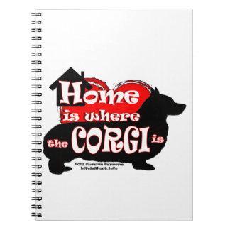 Howm ist, wo der Corgi ist Notizblock