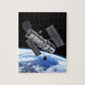 Hubble Raum-Teleskop in die Erdbahn NASA-Foto Puzzle