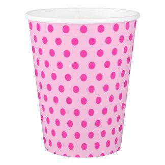 Hübsch erröten rosa Polka-Punkt-Party Pappbecher