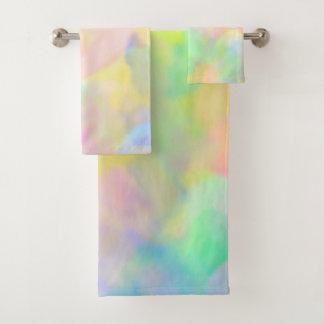 Hübsche abstrakte Pastelle Badhandtuch Set