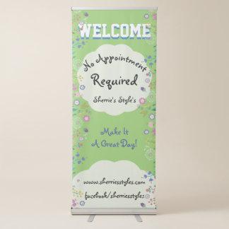 Hübsche Blumen kein Verabredungs-erforderliches Ausziehbarer Banner