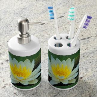 Hübsche Blumen Seifenspender & Zahnbürstenhalter