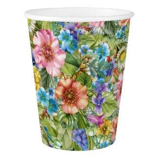 Hübsche BlumenParty-Waren-Schalen Pappbecher