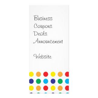 Hübsche bunte Spaß-Polka-Punkt-Muster-multi Farbe Individuelle Werbekarte