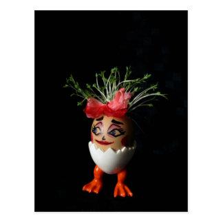 Hübsche Dame Eggmen Series Ostern Postcard Postkarten