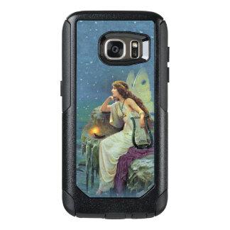 Hübsche Fee auf Klippe Lit-Kerzenmusical Harfe OtterBox Samsung Galaxy S7 Hülle
