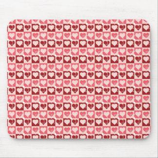 Hübsche Herzen in den Geschenken Quadratevalentine Mousepad
