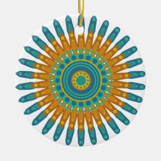 Hübsche Mandala-Weihnachtsverzierung Keramik Ornament