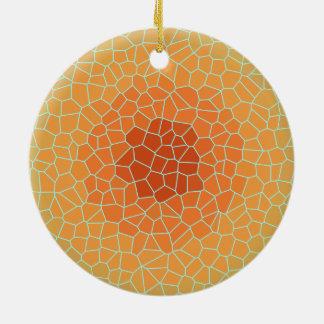 Hübsche orange Limone Green> Keramik Ornament