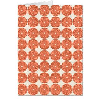 Hübsche orange Melone kreist strukturiertes Karte