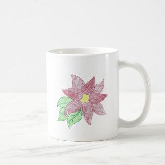 Hübsche Poinsettia-Skizze Kaffeetasse