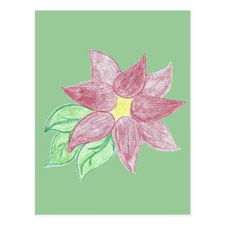 Hübsche Poinsettia-Skizze Postkarte