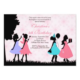 Hübsche rosa Prinzessin Fairy Birthday Party 12,7 X 17,8 Cm Einladungskarte