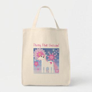 Hübsche rosa Unicorn-Taschen-Tasche Tragetasche