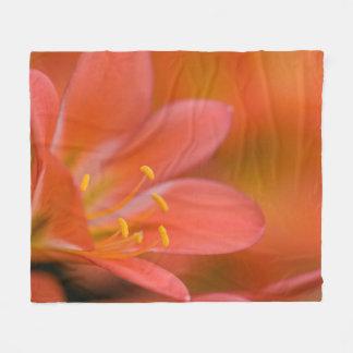 Hübsche rote Clivia Blume Fleecedecke