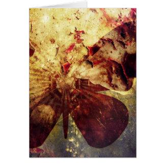 Hübsche rustikale Grunge-Schmetterlings-Flügel Karte