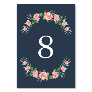 Pretty Petals | Table Number Card