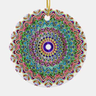 Hübsche Türkis-, Grüne u. Orangemandala-Verzierung Keramik Ornament