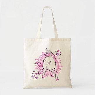 Hübsche Unicorn-Tasche Budget Stoffbeutel