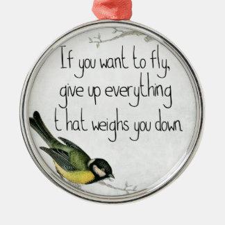 Hübsche Vogelverzierung Silbernes Ornament