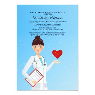 Hübsche weibliche Mediziner-Einladung 12,7 X 17,8 Cm Einladungskarte