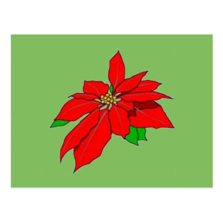 Hübsche WeihnachtenPointsettia Postkarte