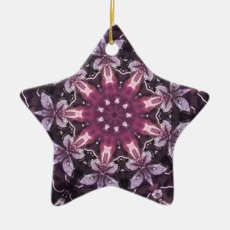 Hübscher Burgunder schwarzer BlumenMandala Keramik Ornament