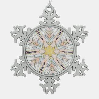 Hübscher heller nobler Chic abstrakt Schneeflocken Zinn-Ornament