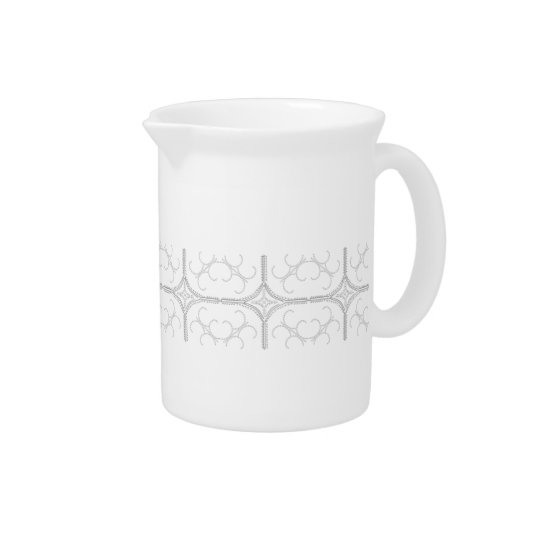 Hübscher perliger Porzellan-Krug Getränke Krug