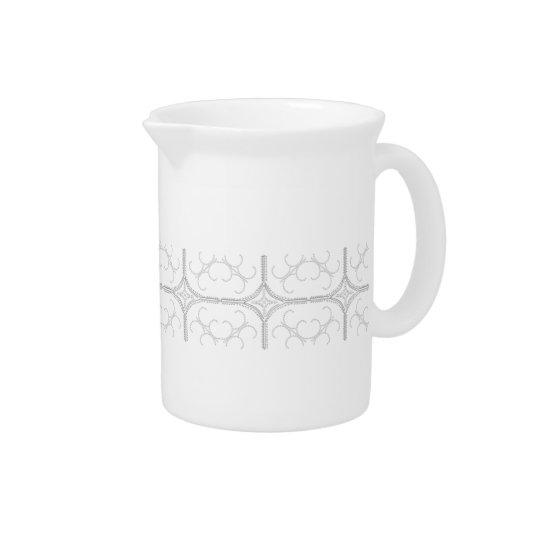 Hübscher perliger Porzellan-Krug Getränke Pitcher