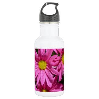 Hübscher rosa Chrysantheme-Blumendruck Trinkflasche