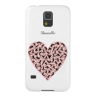 Hübscher rosa Kasten Tanz-Herz-Samsungs-Galaxie-S5 Hülle Fürs Galaxy S5