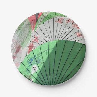 Hübscher Sonnenschirm-Papierplatte Pappteller