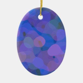 Hübsches abstraktes in Blauem, in Lila und Grün Keramik Ornament