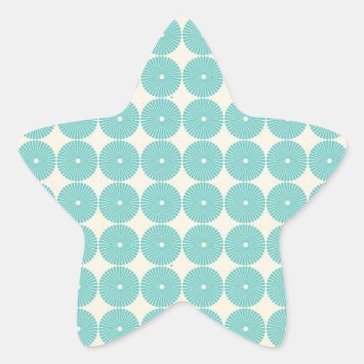 Hübsches aquamarines Aqua-Türkis-Blau kreist Schei Stickers