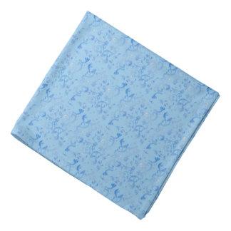 Hübsches blaues Pastellblumen Kopftücher