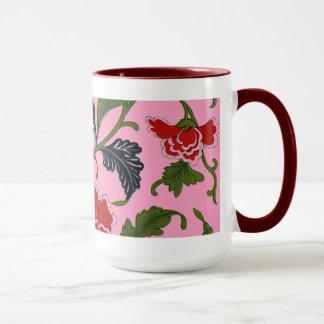 Hübsches chinesisches Blumenmuster Tasse
