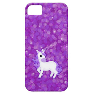 Hübsches lila Unicorn und Glitzer iPhone 5 Fall iPhone 5 Case