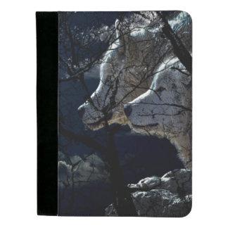 Hübsches Nachtwolf Anmerkungs-Auflage-Portfolio Padfolio