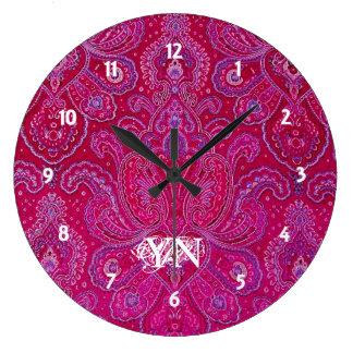 Hübsches Paisley-Monogramm Uhr