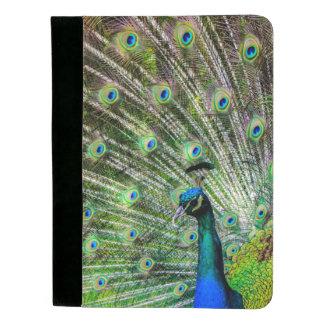 Hübsches Pfau-Anmerkungs-Auflage-Portfolio Padfolio