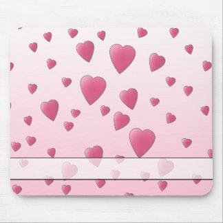 Hübsches rosa Muster der Liebe-Herzen Mousepad