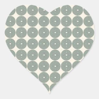 Hübsches Silber kreist Muster-Scheiben-Knöpfe ein Sticker