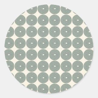 Hübsches Silber kreist Muster-Scheiben-Knöpfe ein Runder Sticker