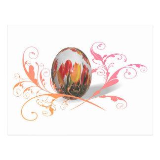 Hübsches Tulpe-Osterei Postkarte